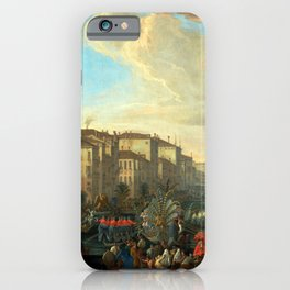 Luca Carlevarijs Regatta on the Grand Canal in Honor of Frederick IV, King of Denmark iPhone Case