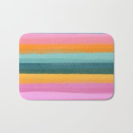 Pretty Painted Lines Bath Mat