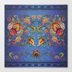 Denim Designs Jacobean Border Canvas Print