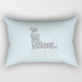emotional constipation Rectangular Pillow