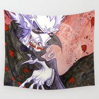 dracula Wall Tapestries featuring Dracula Bad Romance by JoJo Seames