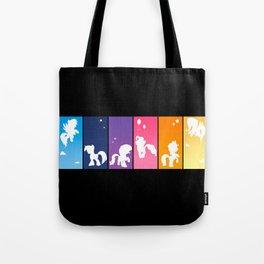 Rainbow Ponies Tote Bag