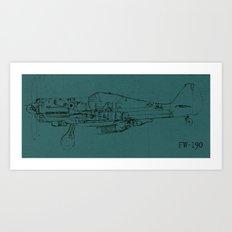 FW - 190 (Colour) Art Print