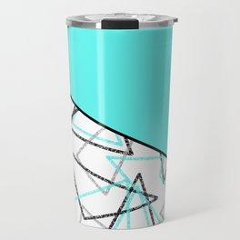Abstract turquoise combo pattern . Travel Mug