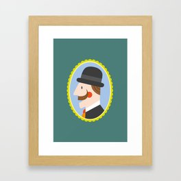 Gentleman portrait Framed Art Print