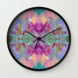 Floral Kaleidoscope Dream Wall Clock