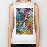 xmen Biker Tanks featuring The XMen by MelissaMoffatCollage