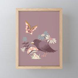 Wonderland Garden - Mauve Framed Mini Art Print
