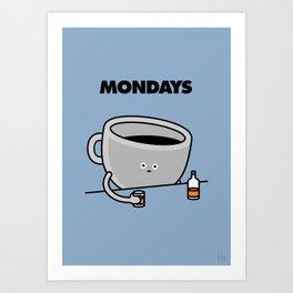 Mondays Art Print