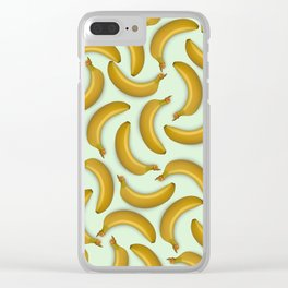 Fruit pattern. Background from bananas with realistic shadows Clear iPhone Case