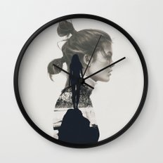 into the water i jump Wall Clock