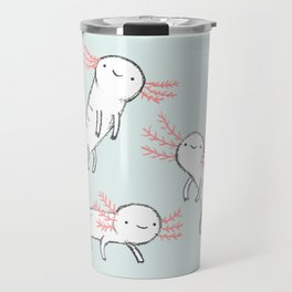 Three Little Axolotls Travel Mug
