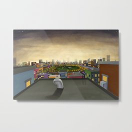 The Fall in Big City, Peanut Butter Zombie Print No.1 Metal Print