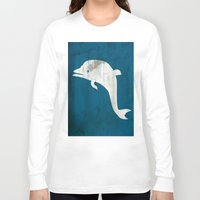 dolphin Long Sleeve T-shirts featuring Dolphin by Renato Armignacco