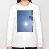 the wire Long Sleeve T-shirts featuring High Wire by Max Jones