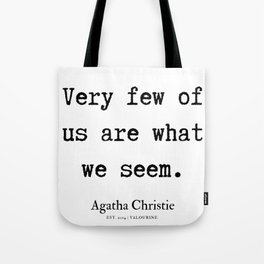 3  | Agatha Christie Quotes | 190821 Tote Bag