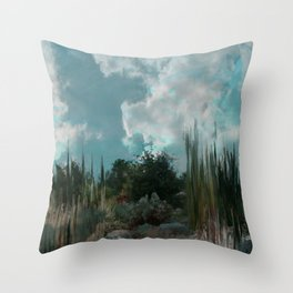 In The Cool Of The Evening In The Desert Throw Pillow