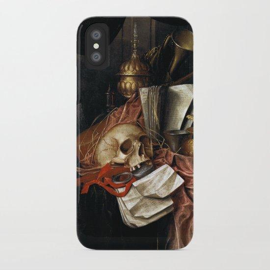 Vintage Vanitas - Still Life with skull 2 iPhone Case