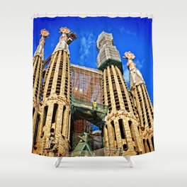 Sagrata Familia Shower Curtain
