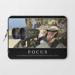 Focus: Inspirational Quote and Motivational Poster Laptop Sleeve