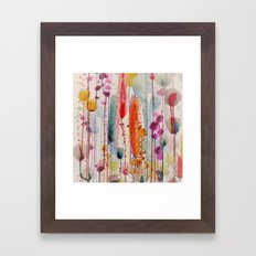 champs fleuris Framed Art Print