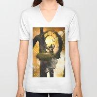 wonderland V-neck T-shirts featuring Wonderland  by nicky2342
