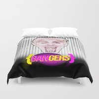 miley Duvet Covers featuring BANGERZ // MILEY by Adam Peerce