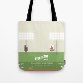 Filligar  with DOM - Brighton Music Hall - Fenway Poter Tote Bag