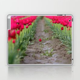 A Field of Red Tulips Laptop & iPad Skin