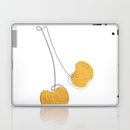 Les Cerises - Gold Cherry Line Art Laptop & iPad Skin