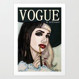 Ashley Dzerigian in VOGUE 2 Art Print