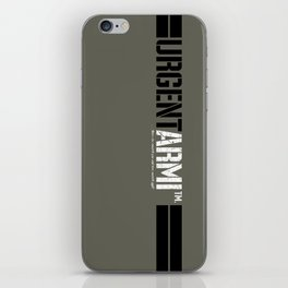 URGENTARMI (V02)... there's less reason to fear and more reason to fight. iPhone Skin