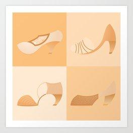 Yellow Shoes Art Print