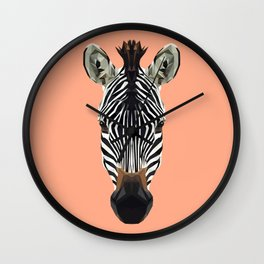 Polygon Zebra Wall Clock