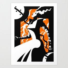 horror monster bride creature Art Print