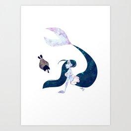 Arctic Mermaid Art Print