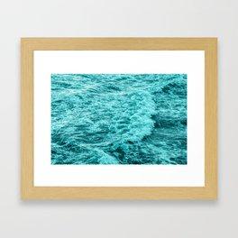 Ocean Water Splash Framed Art Print