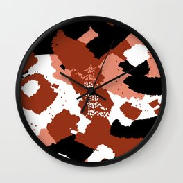Rusted Paint Abstract Wall Clock