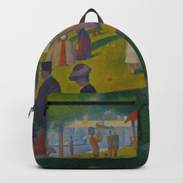 A Sunday Afternoon on the Island of La Grande Jatte Painting by Georges Seurat Pointillism Backpack