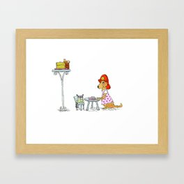 Pancake Plate Tea Party  Framed Art Print