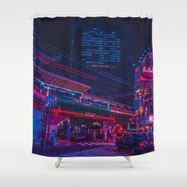 Neo Tokyo Shower Curtain