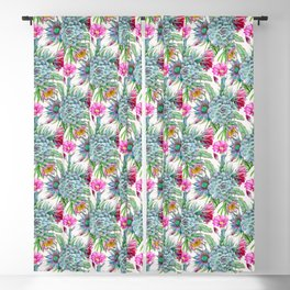 Exotic flower garden Blackout Curtain