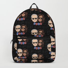 galaxy dream team: biden harris 2020 cartoon sunglasses Backpack