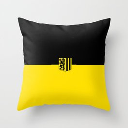 Flag of Dresden Throw Pillow