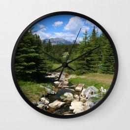 Mountain Brook In Th Rockies Wall Clock