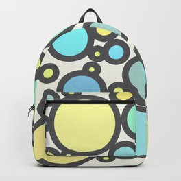 Yellow Blue Green Dots Backpack