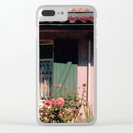 Cottage with Flowers Clear iPhone Case