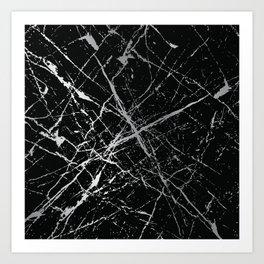 Silver Splatter 090 Art Print