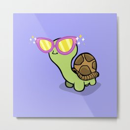 Fabulous Turtle! Metal Print