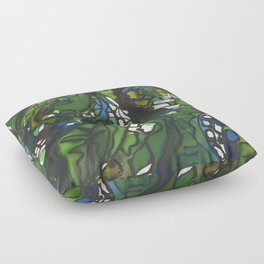 SILK PAINTING Floor Pillow